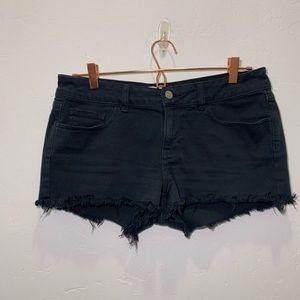 Pink | black cut off shorts